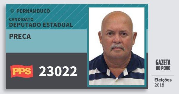 Santinho Preca 23022 (PPS) Deputado Estadual | Pernambuco | Eleições 2018