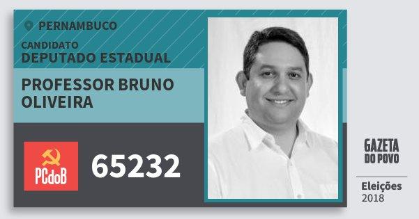 Santinho Professor Bruno Oliveira 65232 (PC do B) Deputado Estadual | Pernambuco | Eleições 2018