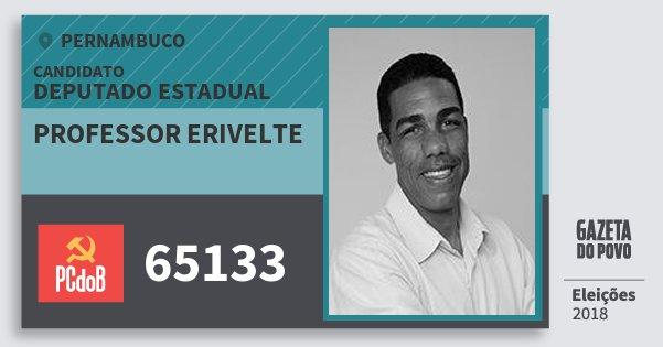 Santinho Professor Erivelte 65133 (PC do B) Deputado Estadual | Pernambuco | Eleições 2018