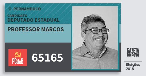 Santinho Professor Marcos 65165 (PC do B) Deputado Estadual | Pernambuco | Eleições 2018