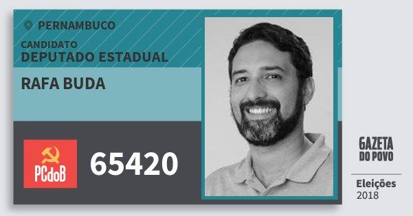 Santinho Rafa Buda 65420 (PC do B) Deputado Estadual | Pernambuco | Eleições 2018