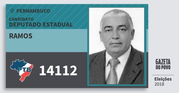 Santinho Ramos 14112 (PTB) Deputado Estadual | Pernambuco | Eleições 2018
