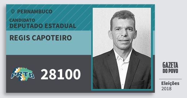 Santinho Regis Capoteiro 28100 (PRTB) Deputado Estadual | Pernambuco | Eleições 2018