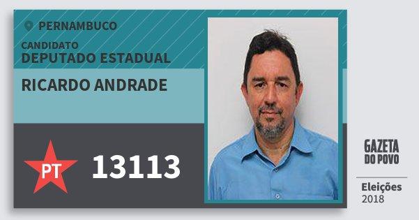 Santinho Ricardo Andrade 13113 (PT) Deputado Estadual | Pernambuco | Eleições 2018