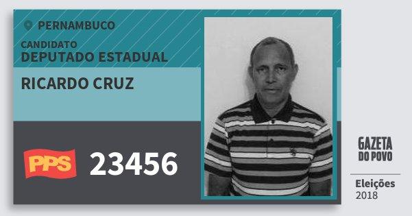 Santinho Ricardo Cruz 23456 (PPS) Deputado Estadual | Pernambuco | Eleições 2018