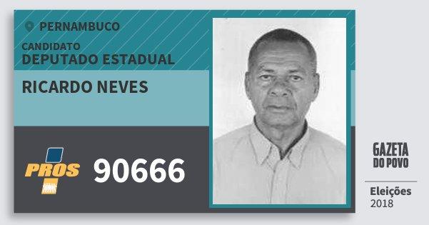 Santinho Ricardo Neves 90666 (PROS) Deputado Estadual | Pernambuco | Eleições 2018