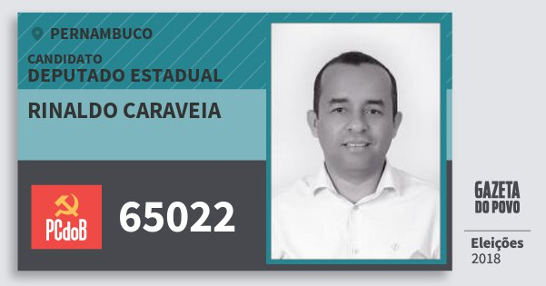 Santinho Rinaldo Caraveia 65022 (PC do B) Deputado Estadual | Pernambuco | Eleições 2018