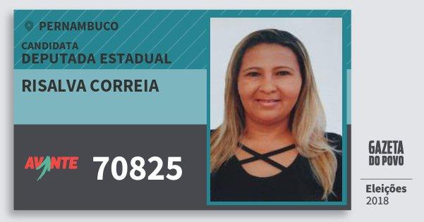 Santinho Risalva Correia 70825 (AVANTE) Deputada Estadual | Pernambuco | Eleições 2018