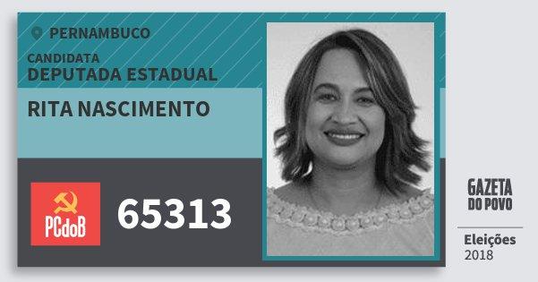 Santinho Rita Nascimento 65313 (PC do B) Deputada Estadual | Pernambuco | Eleições 2018
