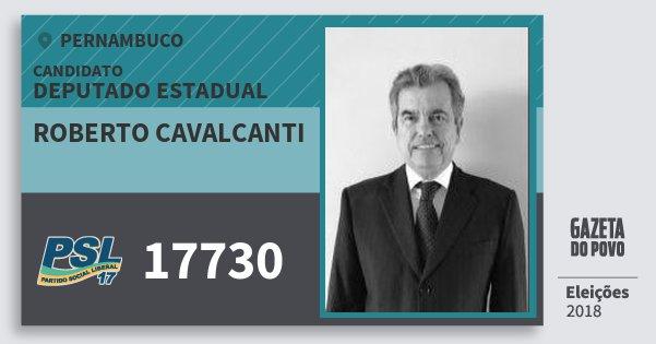 Santinho Roberto Cavalcanti 17730 (PSL) Deputado Estadual | Pernambuco | Eleições 2018