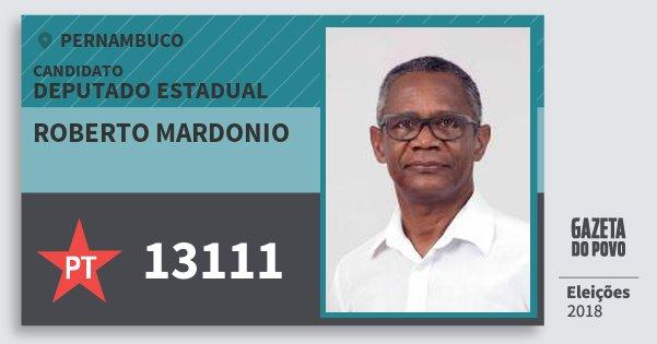 Santinho Roberto Mardonio 13111 (PT) Deputado Estadual | Pernambuco | Eleições 2018