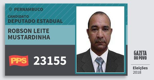 Santinho Robson Leite Mustardinha 23155 (PPS) Deputado Estadual | Pernambuco | Eleições 2018