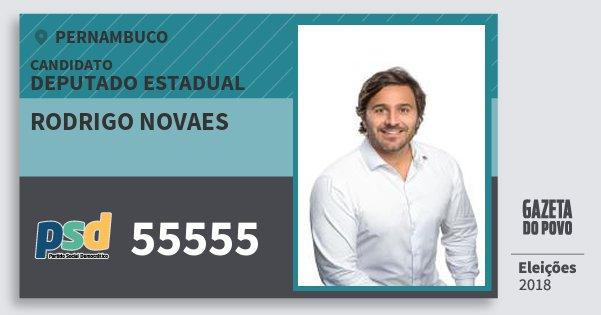 Santinho Rodrigo Novaes 55555 (PSD) Deputado Estadual | Pernambuco | Eleições 2018