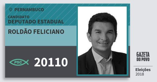 Santinho Roldão Feliciano 20110 (PSC) Deputado Estadual | Pernambuco | Eleições 2018