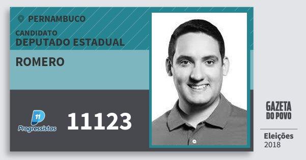 Santinho Romero 11123 (PP) Deputado Estadual | Pernambuco | Eleições 2018