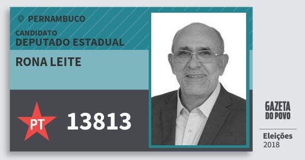 Santinho Rona Leite 13813 (PT) Deputado Estadual | Pernambuco | Eleições 2018