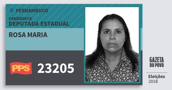 Santinho Rosa Maria 23205 (PPS) Deputada Estadual | Pernambuco | Eleições 2018