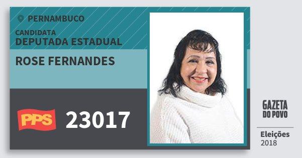 Santinho Rose Fernandes 23017 (PPS) Deputada Estadual | Pernambuco | Eleições 2018