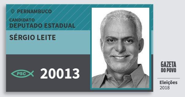 Santinho Sérgio Leite 20013 (PSC) Deputado Estadual | Pernambuco | Eleições 2018