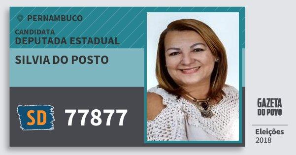 Santinho Silvia do Posto 77877 (SOLIDARIEDADE) Deputada Estadual | Pernambuco | Eleições 2018