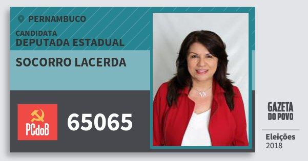 Santinho Socorro Lacerda 65065 (PC do B) Deputada Estadual   Pernambuco   Eleições 2018