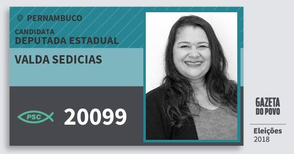 Santinho Valda Sedicias 20099 (PSC) Deputada Estadual | Pernambuco | Eleições 2018