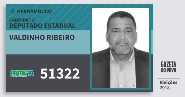 Santinho Valdinho Ribeiro 51322 (PATRI) Deputado Estadual | Pernambuco | Eleições 2018