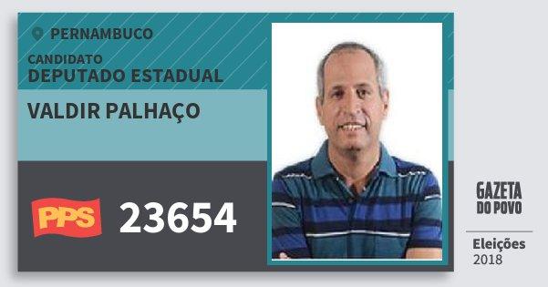 Santinho Valdir Palhaço 23654 (PPS) Deputado Estadual | Pernambuco | Eleições 2018