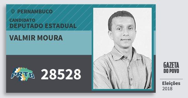 Santinho Valmir Moura 28528 (PRTB) Deputado Estadual | Pernambuco | Eleições 2018