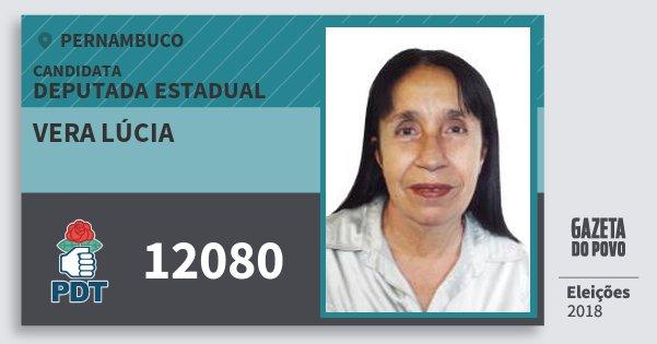 Santinho Vera Lúcia 12080 (PDT) Deputada Estadual | Pernambuco | Eleições 2018
