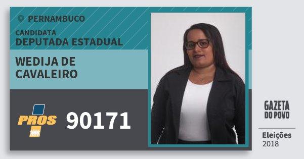Santinho Wedija de Cavaleiro 90171 (PROS) Deputada Estadual | Pernambuco | Eleições 2018