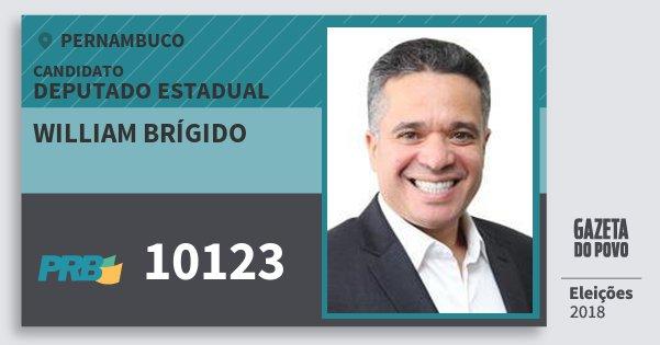 Santinho William Brígido 10123 (PRB) Deputado Estadual | Pernambuco | Eleições 2018
