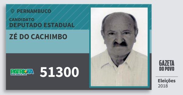 Santinho Zé do Cachimbo 51300 (PATRI) Deputado Estadual | Pernambuco | Eleições 2018