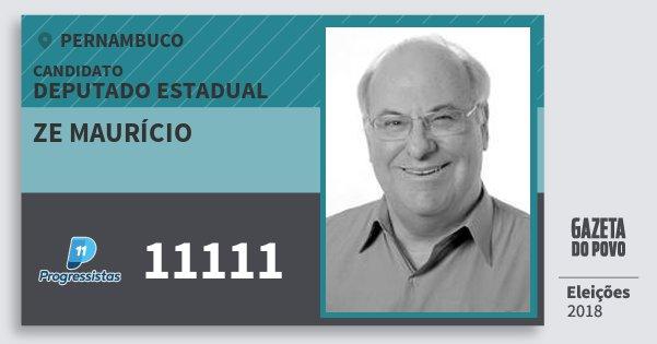 Santinho Ze Maurício 11111 (PP) Deputado Estadual | Pernambuco | Eleições 2018