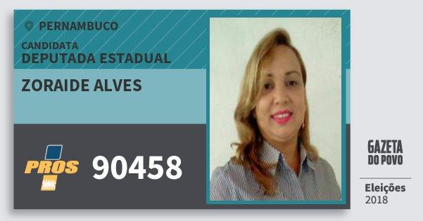 Santinho Zoraide Alves 90458 (PROS) Deputada Estadual | Pernambuco | Eleições 2018
