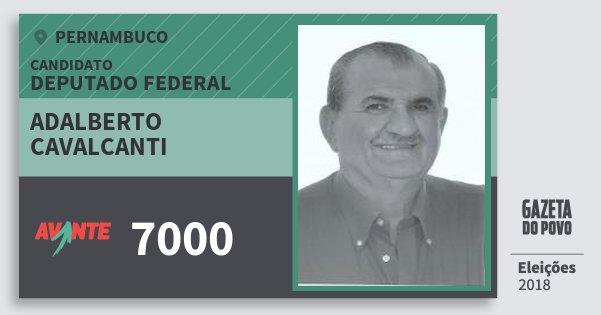 Santinho Adalberto Cavalcanti 7000 (AVANTE) Deputado Federal | Pernambuco | Eleições 2018