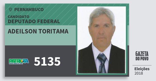 Santinho Adeilson Toritama 5135 (PATRI) Deputado Federal | Pernambuco | Eleições 2018