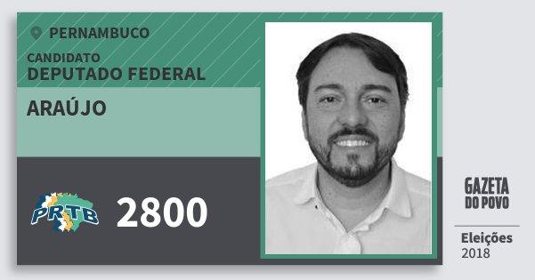 Santinho Araújo 2800 (PRTB) Deputado Federal   Pernambuco   Eleições 2018