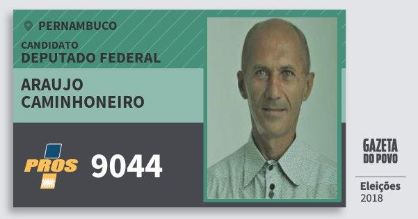 Santinho Araujo Caminhoneiro 9044 (PROS) Deputado Federal | Pernambuco | Eleições 2018