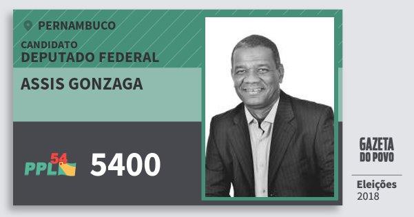 Santinho Assis Gonzaga 5400 (PPL) Deputado Federal   Pernambuco   Eleições 2018