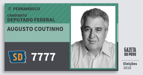 Santinho Augusto Coutinho 7777 (SOLIDARIEDADE) Deputado Federal | Pernambuco | Eleições 2018
