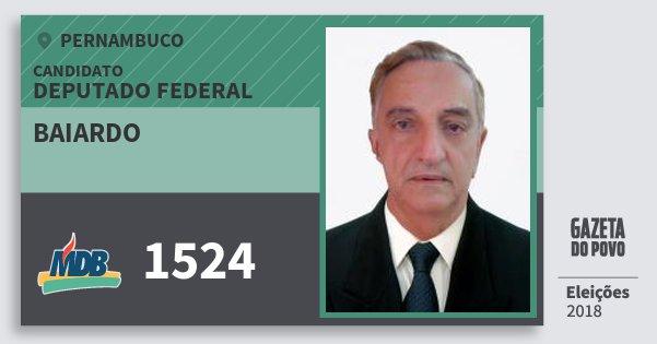 Santinho Baiardo 1524 (MDB) Deputado Federal | Pernambuco | Eleições 2018