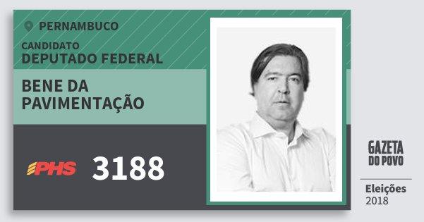 Santinho Bene da Pavimentação 3188 (PHS) Deputado Federal | Pernambuco | Eleições 2018