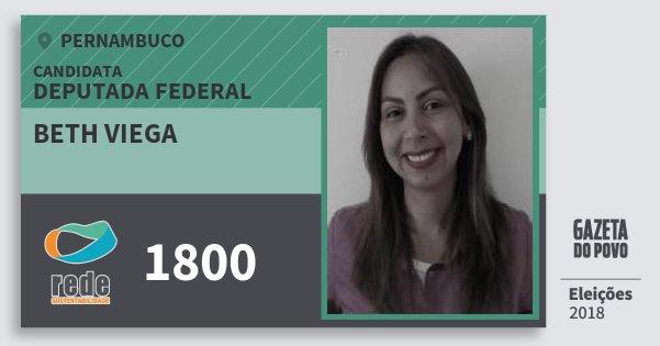 Santinho Beth Viega 1800 (REDE) Deputada Federal | Pernambuco | Eleições 2018