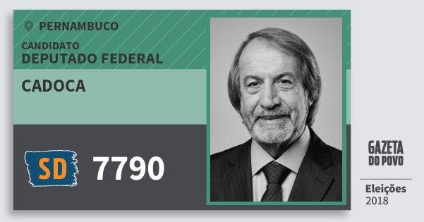 Santinho Cadoca 7790 (SOLIDARIEDADE) Deputado Federal   Pernambuco   Eleições 2018