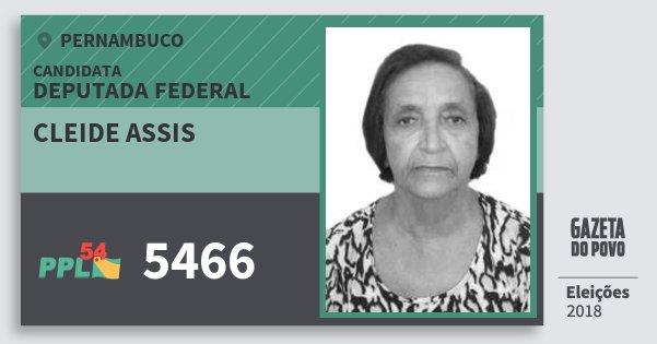 Santinho Cleide Assis 5466 (PPL) Deputada Federal | Pernambuco | Eleições 2018