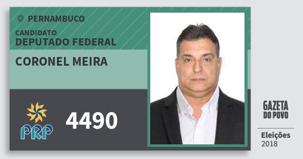 Santinho Coronel Meira 4490 (PRP) Deputado Federal | Pernambuco | Eleições 2018