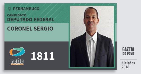 Santinho Coronel Sérgio 1811 (REDE) Deputado Federal | Pernambuco | Eleições 2018
