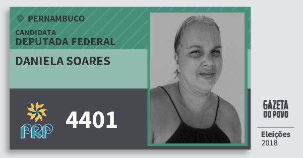 Santinho Daniela Soares 4401 (PRP) Deputada Federal | Pernambuco | Eleições 2018