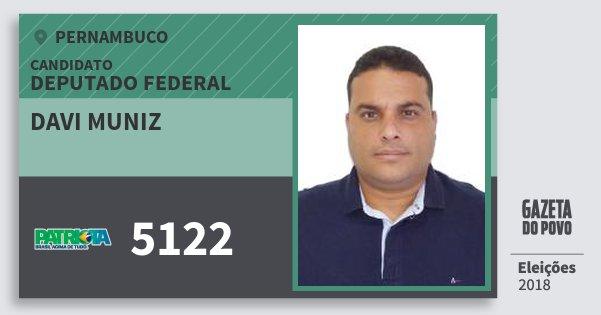 Santinho Davi Muniz 5122 (PATRI) Deputado Federal | Pernambuco | Eleições 2018